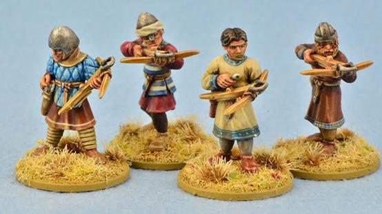Gripping Beast 28mm Early Crusade: Crossbowmen (4)