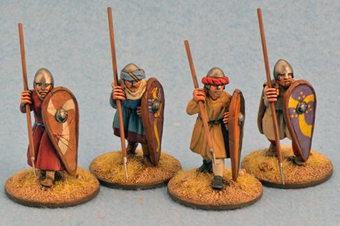 Gripping Beast 28mm Early Crusade: Dismounted Sergeants #1 (4)