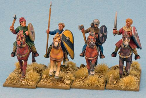 Gripping Beast 28mm Early Crusade: Mounted Sergeants #3 (4)