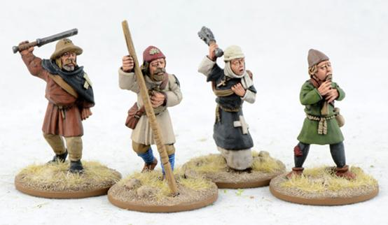 Gripping Beast 28mm Early Crusade: Pilgrims (4) (LCF14)