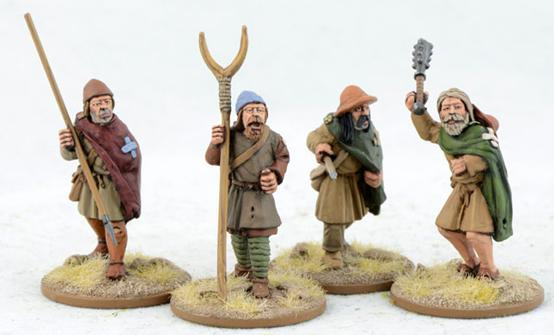 Gripping Beast 28mm Early Crusade: Pilgrims (4) (LCF15)