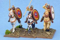 Gripping Beast 28mm Historical: Late Roman Unarmoured Cavalry (Helmets) (3)