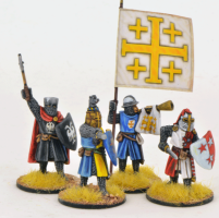 Gripping Beast 28mm Later Crusades: Crusading Foot Knights (Command) (4)
