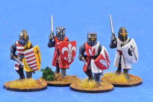 Gripping Beast 28mm Later Crusades: Crusading Foot Knights (Great Helms) (Advancing) (4)