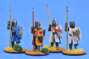 Gripping Beast 28mm Later Crusades: Crusading Foot Knights (Great Helms) (Standing) (4)