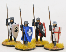 Gripping Beast 28mm Later Crusades: Crusading Foot Knights (Open Helms) (Standing) (4)