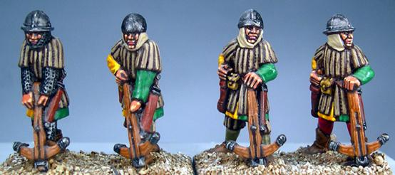 Gripping Beast 28mm Later Crusades: Frankish Foot (Crossbowmen) (Loading) (4)