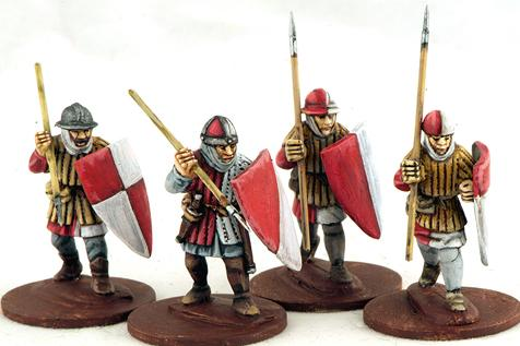 Gripping Beast 28mm Later Crusades: Frankish Foot (Spearmen) (Advancing) (4)