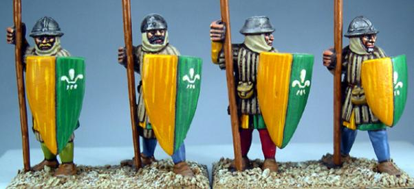 Gripping Beast 28mm Later Crusades: Frankish Foot (Spearmen) (Standing) (4)