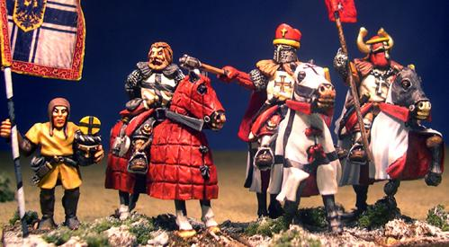 Gripping Beast 28mm Later Crusades: Mounted Teutonic Characters (4)
