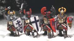 Gripping Beast 28mm Later Crusades: Teutonic Foot Knights (Hand Weapons) (4)
