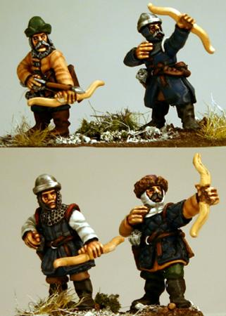 Gripping Beast 28mm Medieval Russian: City Militia Archers (4)