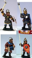 Gripping Beast 28mm Medieval Russian: Dismounted Druzhina (Command) (4)