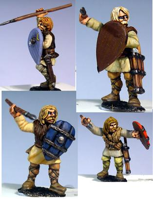 Gripping Beast 28mm Medieval Russian: Tribal Warriors (Attacking) (4)