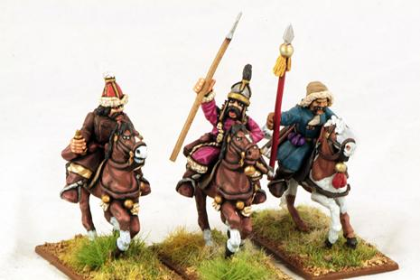 Gripping Beast 28mm Mongols: Cavalry (Command) (3)
