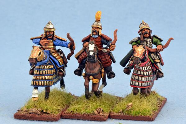 Gripping Beast 28mm Mongols: Heavy Cavalry (Archers) (3)