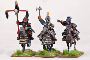 Gripping Beast 28mm Mongols: Heavy Cavalry (Command) (3)