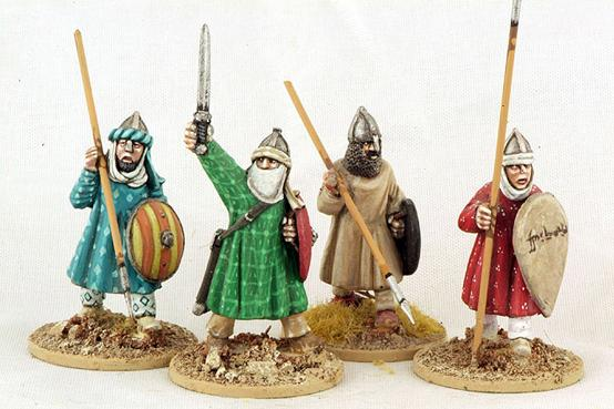 Gripping Beast 28mm Moors: Andalusian Spearmen (Advancing) (4)