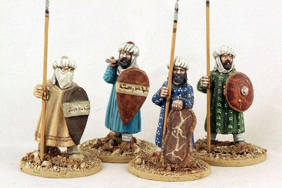 Gripping Beast 28mm Moors: Andalusian Spearmen (Standing) (4)