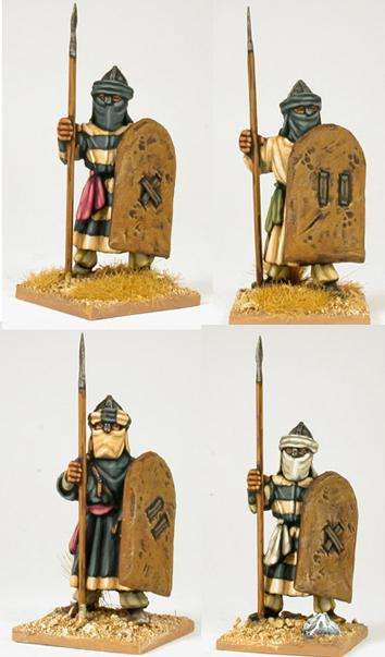 Gripping Beast 28mm Moors: Ben Yusefs Black Guard (Standing - Hippo Shields) (4)