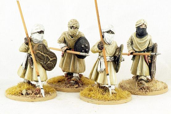 Gripping Beast 28mm Moors: Berber Spearmen (Advancing) (4)