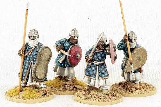 Gripping Beast 28mm Moors: Nubian Spearmen (Padded Coats) (4)