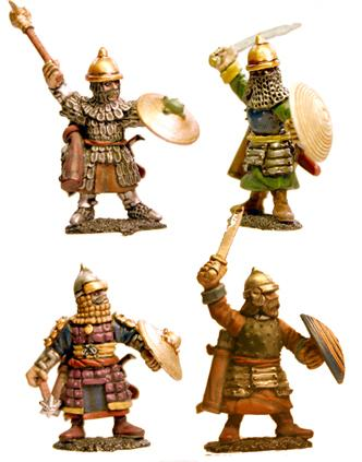 Gripping Beast 28mm Timurid: Dismounted Timurid Cavalry (Hand Weapons) (4)