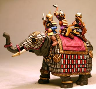Gripping Beast 28mm Timurid: Elephant #1 (Officer Crew)