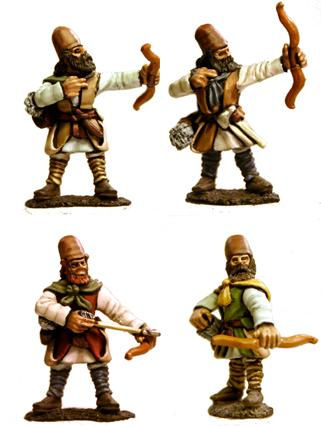 Gripping Beast 28mm Timurid: Tajic Archers (Bows) (4)