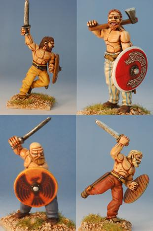 Gripping Beast 28mm Viking Age: Jomsvikings- Viking Raider Beserkers (4)
