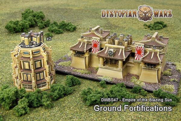 Dystopian Wars: Empire Of The Blazing Sun: Ground Fortifications