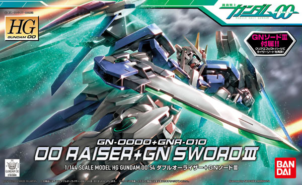 Gundam 00 High Grade (HG): #54 00 Raiser + GN Sword III