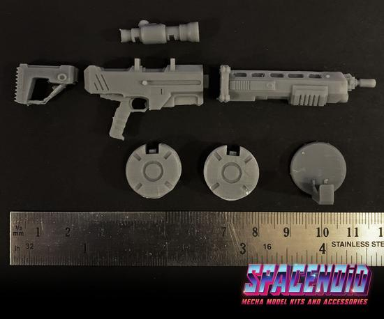 Gundam 3D Printed Aftermarket Kits: Mecha Assault Rifle 1/144