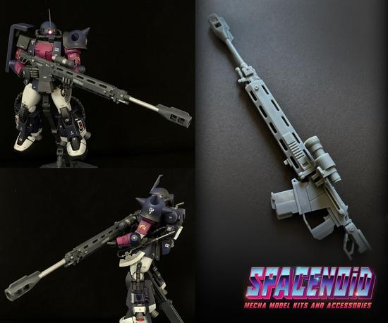 Gundam 3D Printed Aftermarket Kits: Origins Style Mecha Sniper Rifle 1/100