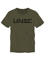 HALO - UNSC Mens Tee Military Green (Large)