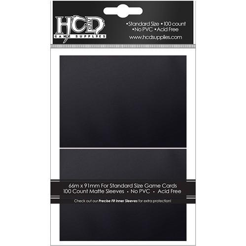 HCD Supplies Matte Sleeves (100): Black