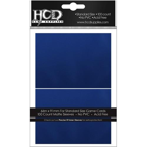 HCD Supplies Matte Sleeves (100): Blue