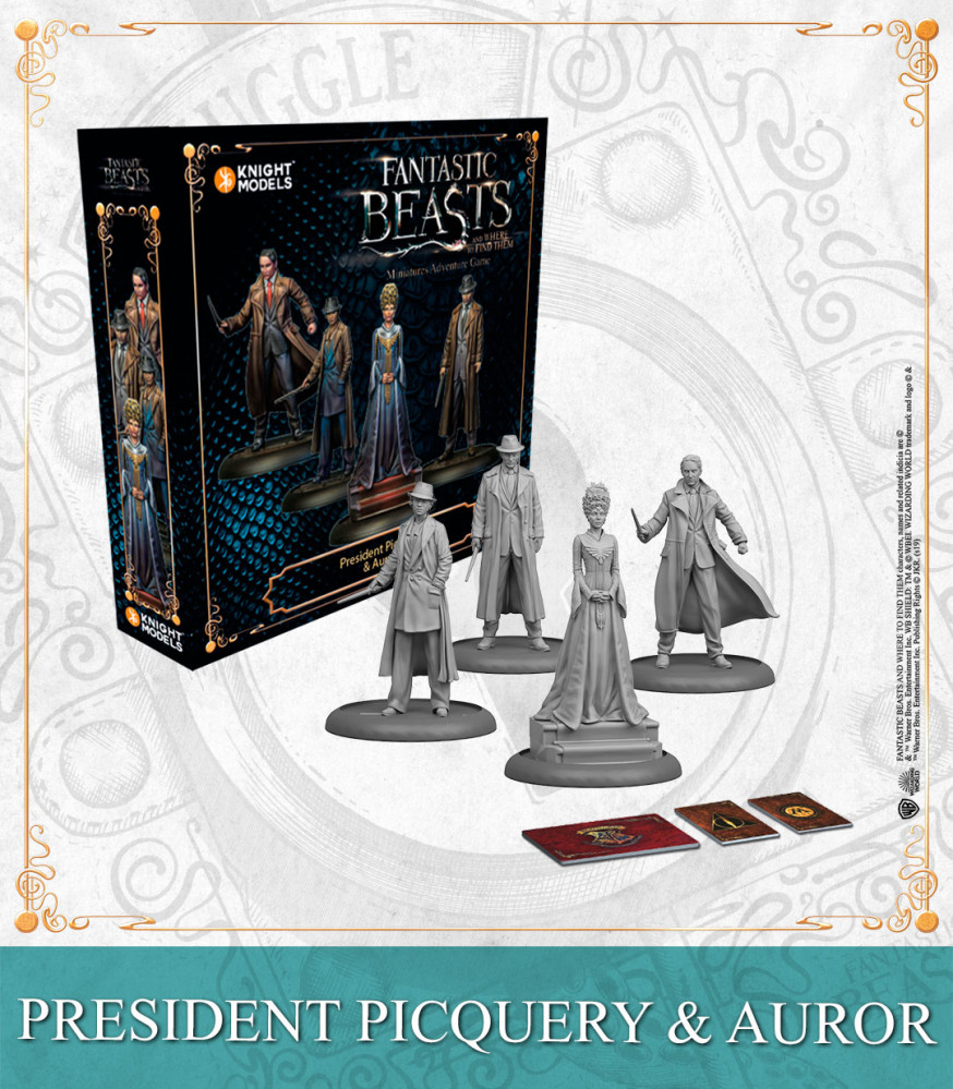 Harry Potter Miniatures Adventure Game: President Picquery & Aurors