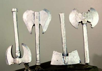 Hasslefree (HFML009): Little Bits! - Fantasy axes (b) Sprue of 4