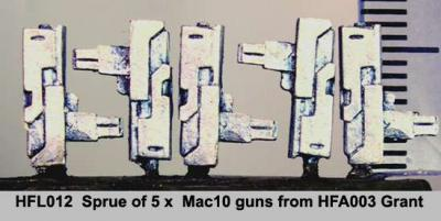 Hasslefree (HFML012): Little Bits! - Sprue of 5 Mac10 SMG