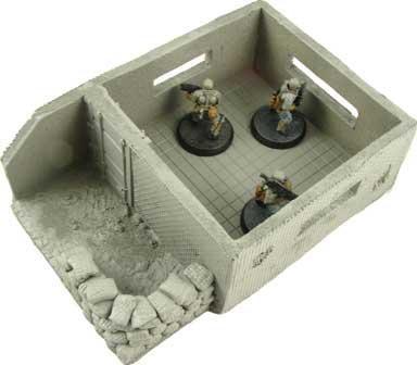 JR Miniatures - 28mm Sci-Fi Terrain: Heavy Weapons Bunker