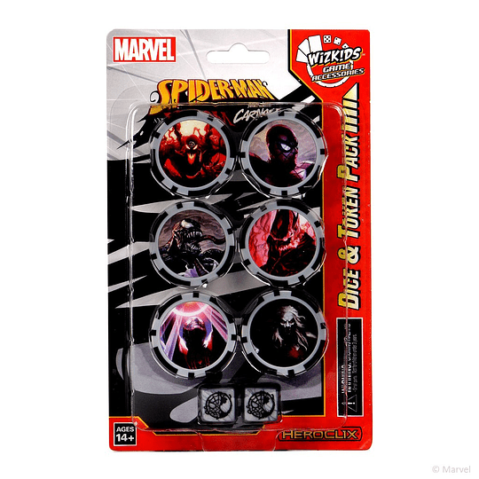 Heroclix: Marvel: Spider-Man and Venom Absolute Carnage - Dice & Tokens