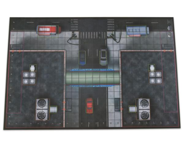 Heroclix: Premium Playmat: Center Plaza