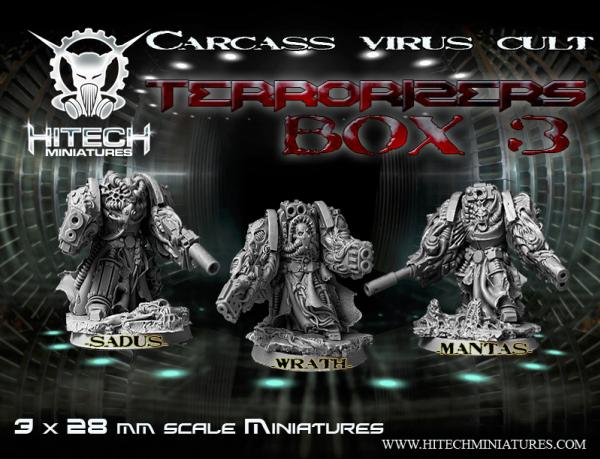 Warhell: Carcass Virus Cult- Terrorizers Box #3