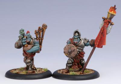 Hordes: Trollbloods (71031): Kriel Warrior Piper and Standard Unit Attachment