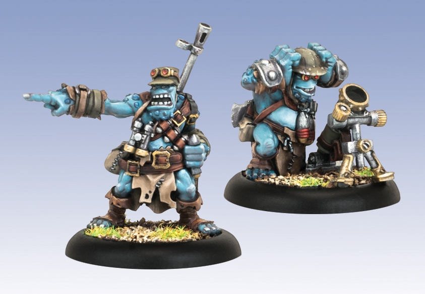 Hordes: Trollbloods (71093): Pyg Bushwhacker Officer & Mortar - Trollblood Unit Attachment
