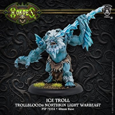 Hordes: Trollbloods (71114): Ice Troll - Trollblood Light Warbeast