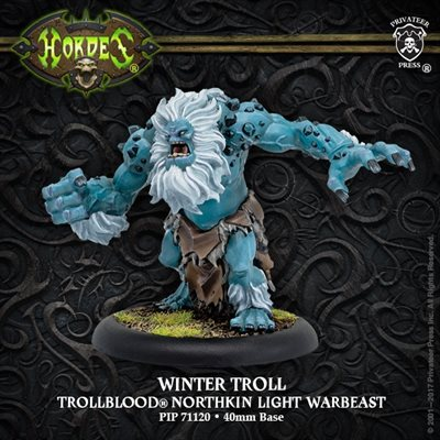 Hordes: Trollbloods (71120): Winter Troll – Trollblood Light Warbeast