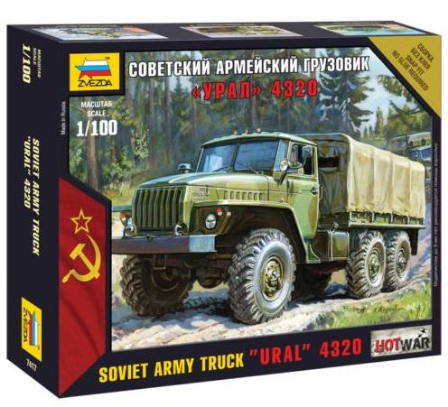 "Hot War: Soviet Army Truck ""Ural"" 4320 (1/100)"