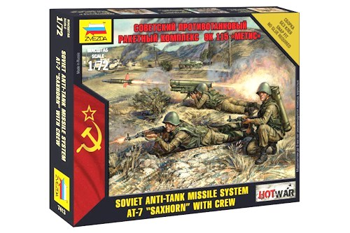 "Hot War: Soviet Anti-tank Missile System AT-7 ""Saxhorn"" with Crew (1/72)"